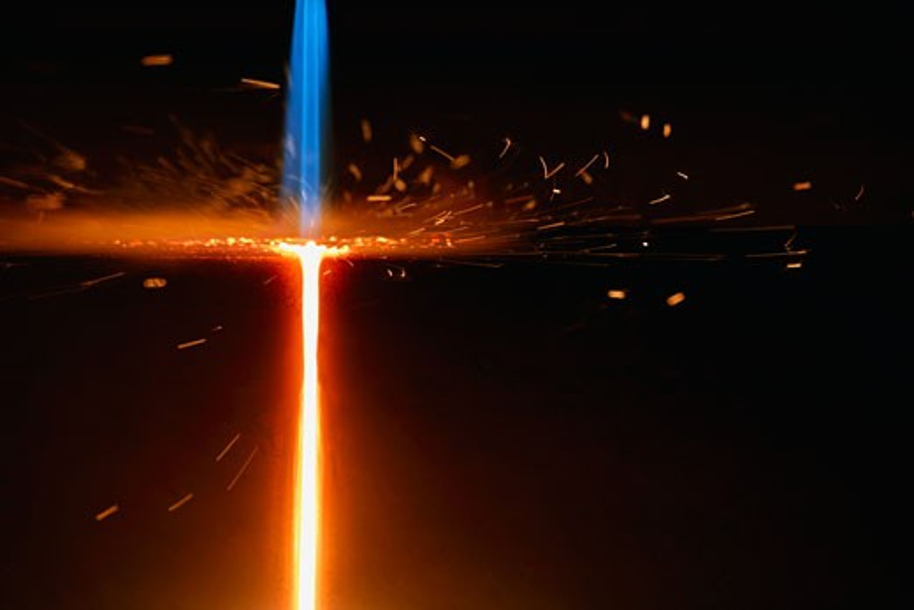 Stock Photo: 1889R-7176 A precise flame