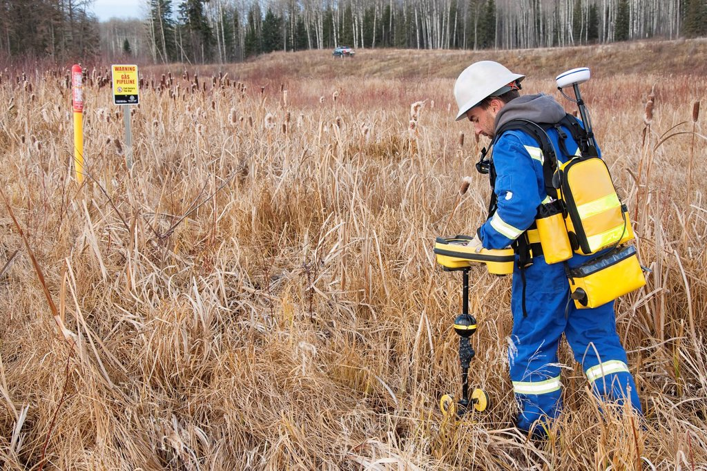 pipeline inspector, whitecourt alberta canada : Stock Photo