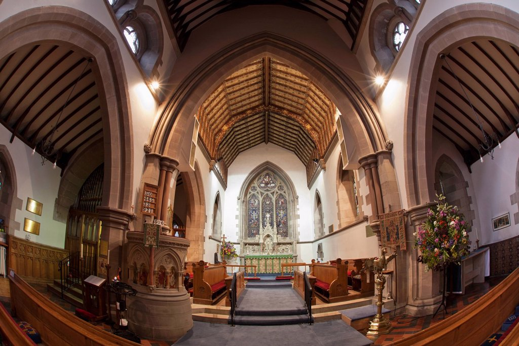 Stock Photo: 1889R-72966 Interior Of A Church, Kelso Scottish Borders Scotland