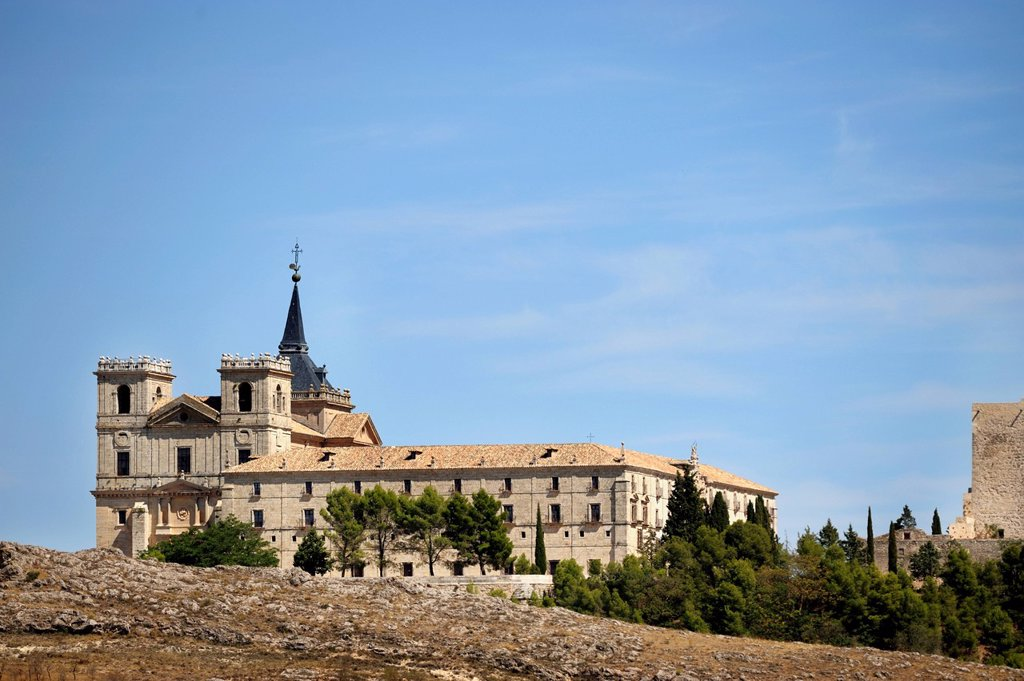 Stock Photo: 1889R-73830 Monastery Of Ucles, Cuenca Castile La Mancha Spain