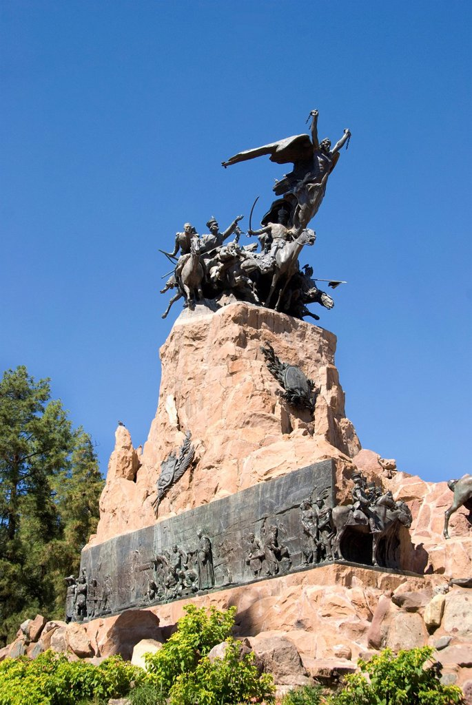 Stock Photo: 1889R-73839 The Monument At Cerro De La Gloria, Mendoza Argentina