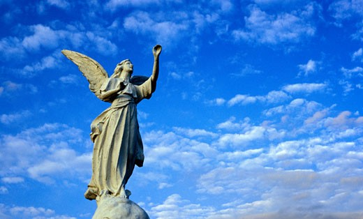Stock Photo: 1889R-7395 Statue of an angel