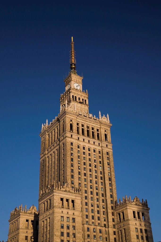 The palace of culture and science, warsaw poland : Stock Photo