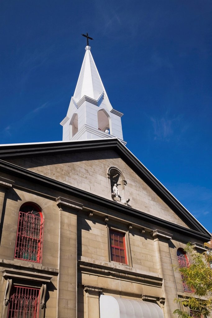 Stock Photo: 1889R-74371 Saint_Esprit Chinese Catholic Mission Church Chinatown District, Montreal Quebec Canada