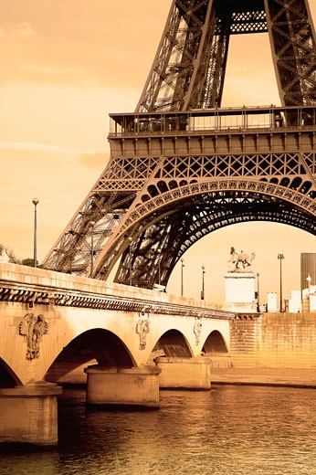 Stock Photo: 1889R-7439 The Eiffel tower
