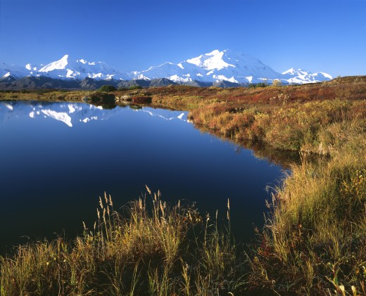 Stock Photo: 1889R-7566 Mount McKinley in Alaska