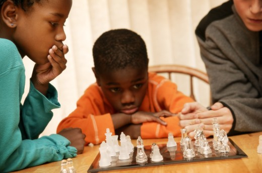 Stock Photo: 1889R-7693 Children playing chess