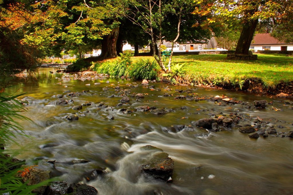 Owenriff River, Oughterard County Galway Connacht Region Ireland : Stock Photo