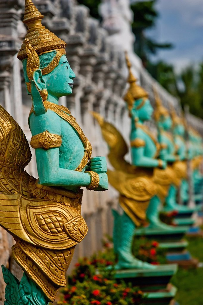 Stock Photo: 1889R-78875 Temple Decorations, Cambodia