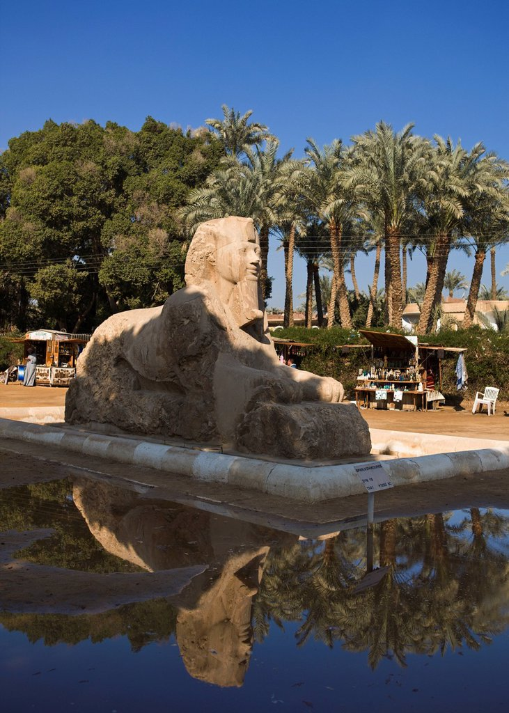 Stock Photo: 1889R-79123 The Alabaster Sphinx, Memphis Egypt