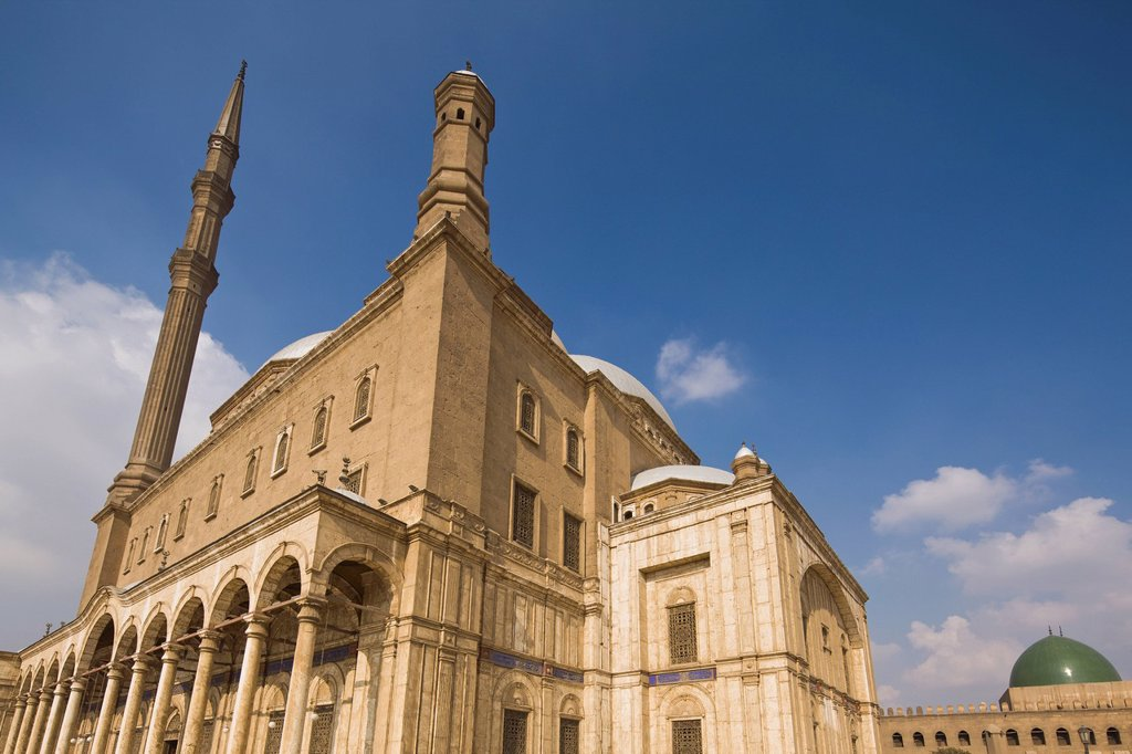 Stock Photo: 1889R-79127 The Mohammed Ali Mosque Or Alabaster Mosque, Cairo Egypt