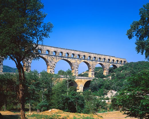 Stock Photo: 1889R-7918 Roman Aqueduct
