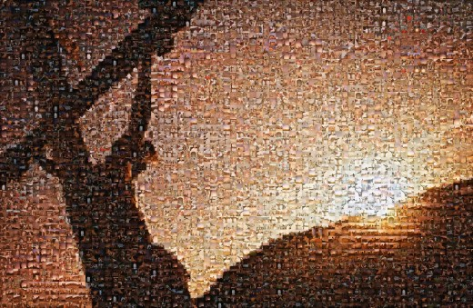 Jesus on Cross mosaic : Stock Photo