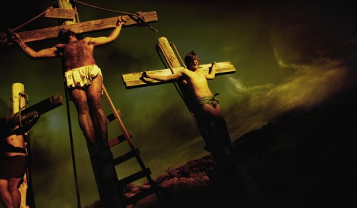 The crucifixion of Christ : Stock Photo