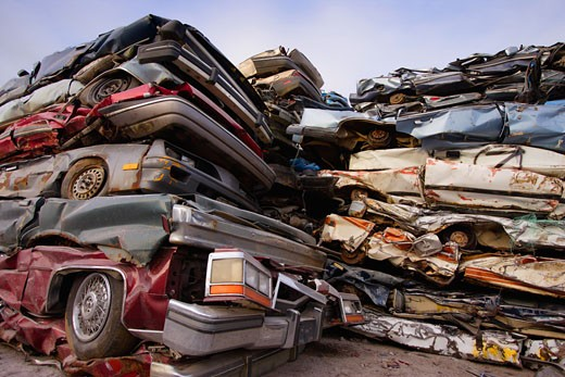 Scrap metal lot : Stock Photo