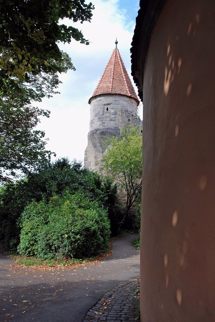 Stock Photo: 1889R-85794 A Building With A Round Tower And Peaked Roof, Germany
