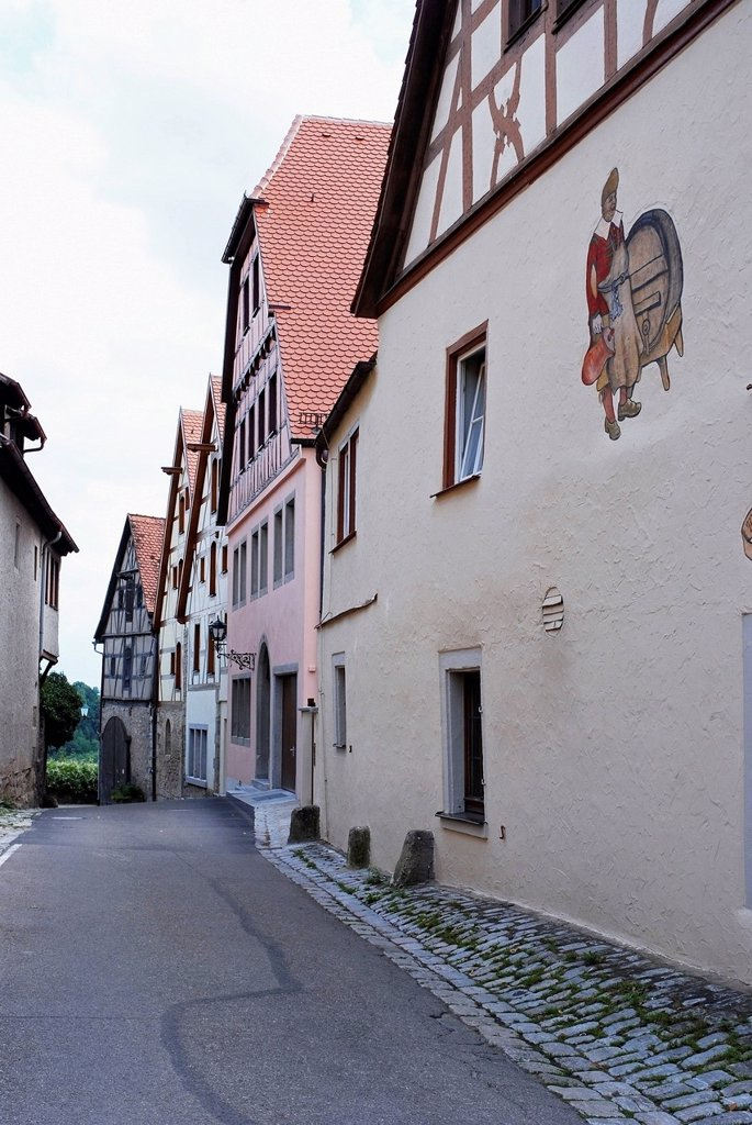 Stock Photo: 1889R-85795 Buildings Along A Narrow Street, Germany