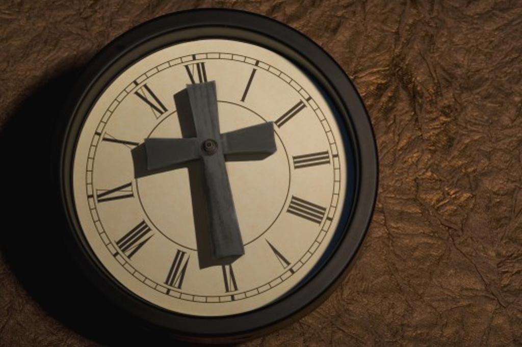 Religious Clock : Stock Photo