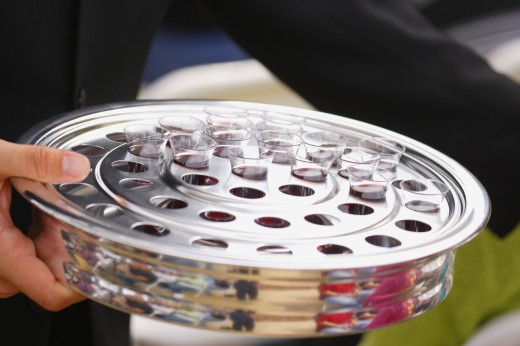 Communion glasses : Stock Photo