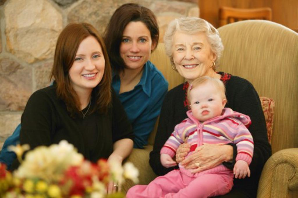 Stock Photo: 1889R-9163 Female family members