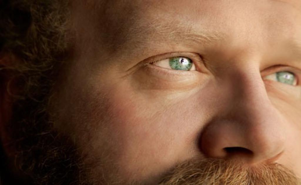 Stock Photo: 1889R-9182 Closeup of a man's face