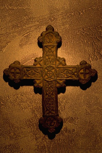Stock Photo: 1889R-9652 Ancient cross
