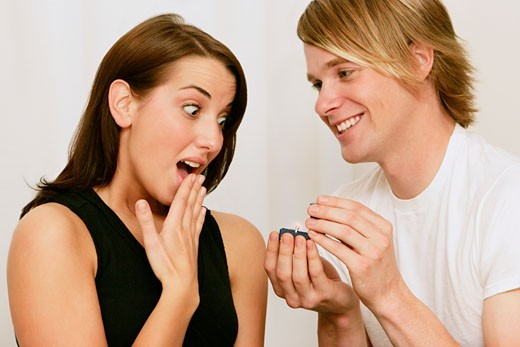 Popping the question : Stock Photo