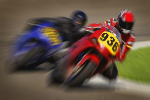 Speed bike race : Stock Photo