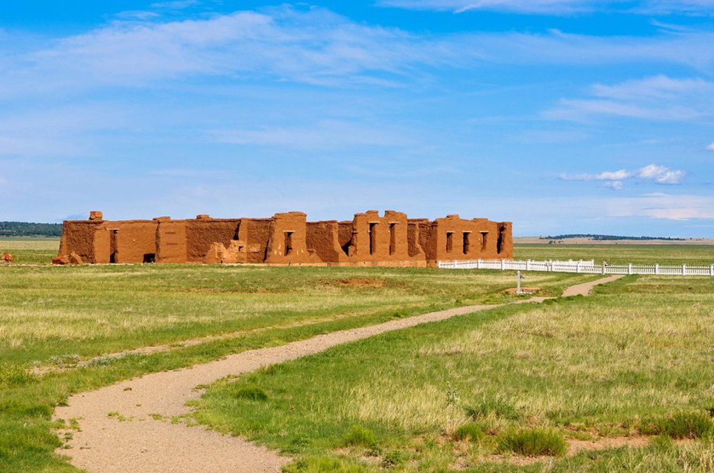 Stock Photo: 1890-100659 Fort Union National Monument and Santa Fe National Historic Trail, New Mexico, United States of America, North America