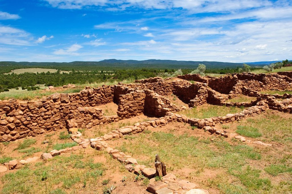 Stock Photo: 1890-100663 Pecos National Historical Park, New Mexico, United States of America, North America