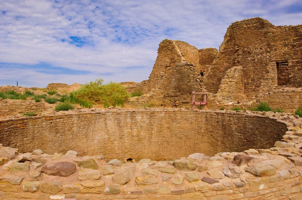 Stock Photo: 1890-100693 Aztec Ruins National Monument, New Mexico, United States of America, North America