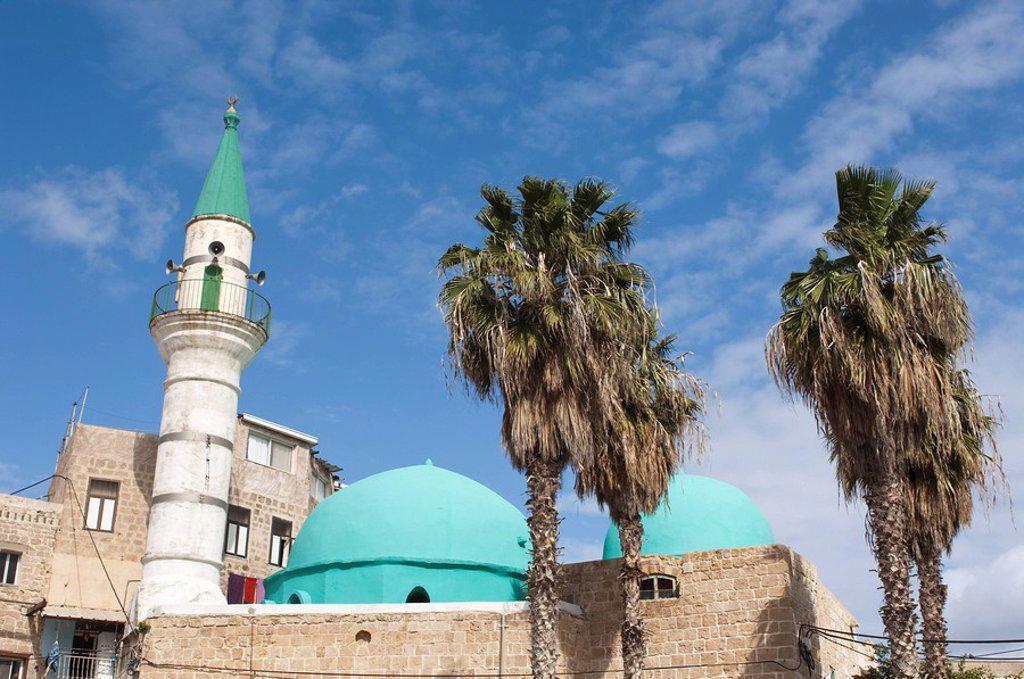 Stock Photo: 1890-100757 Sinan Pasha Mosque, Akko Acre, Israel, Middle East