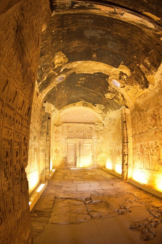 Temple of Osiris in Abydos, Egypt, North Africa, Africa : Stock Photo