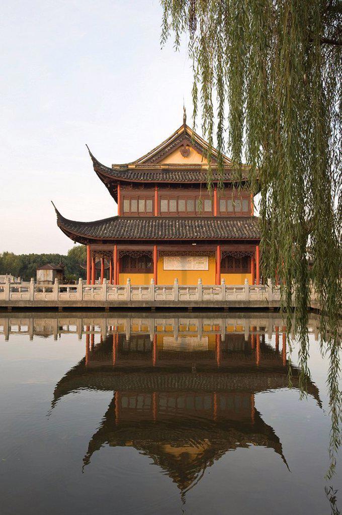 Stock Photo: 1890-100991 Quanfu Temple, Zhouzhuang, Jiangsu, China, Asia