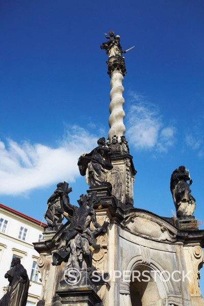 Marian Plague Column in Lower Square Dolni Namesti, Olomouc, Moravia, Czech Republic, Europe : Stock Photo