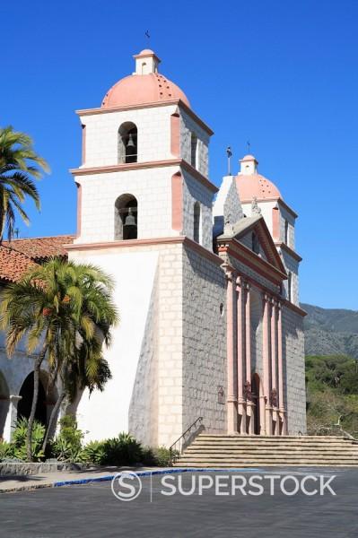Santa Barbara Mission, Santa Barbara, California, United States of America, North America : Stock Photo