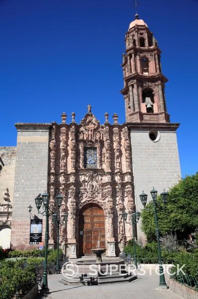 Stock Photo: 1890-101960 Templo de San Francisco, church, San Miguel de Allende, San Miguel, Guanajuato State, Mexico, North America