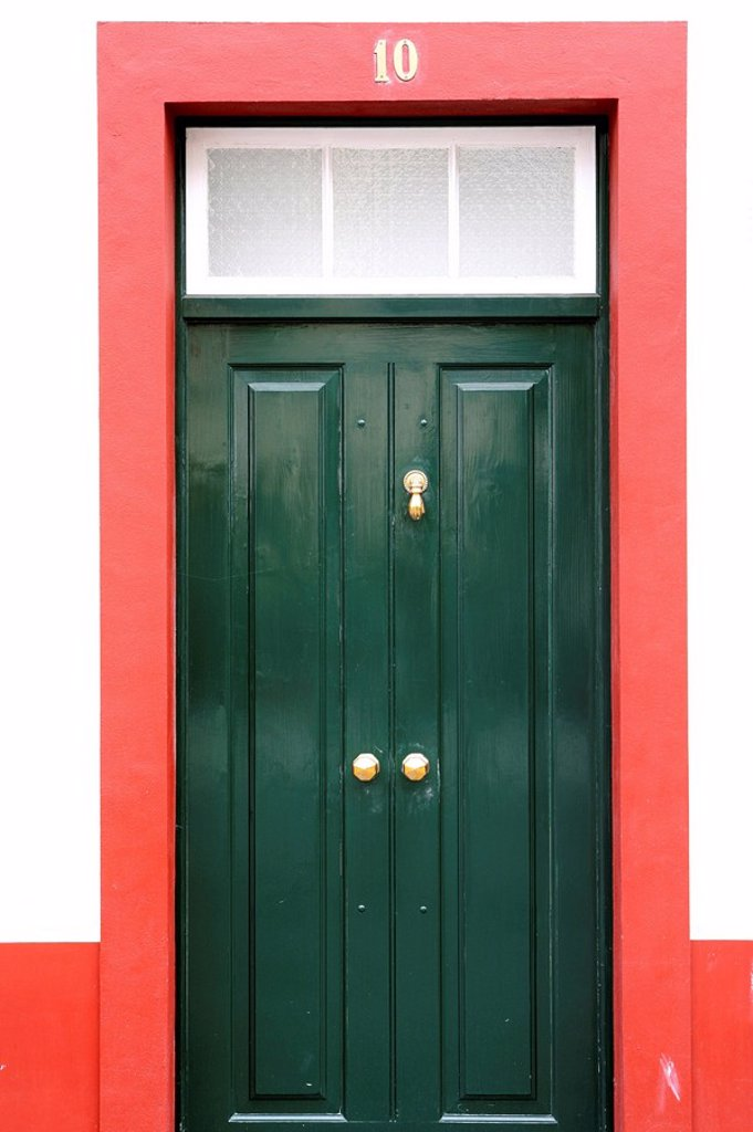 Stock Photo: 1890-102410 House door, Funchal, Madeira, Portugal, Europe