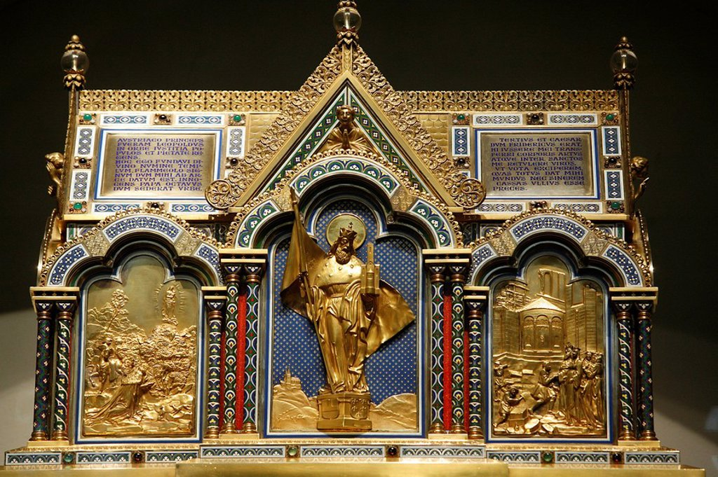 Stock Photo: 1890-103152 Leopold reliquary in Klosterneuburg abbey, Klosterneuburg, Austria, Europe