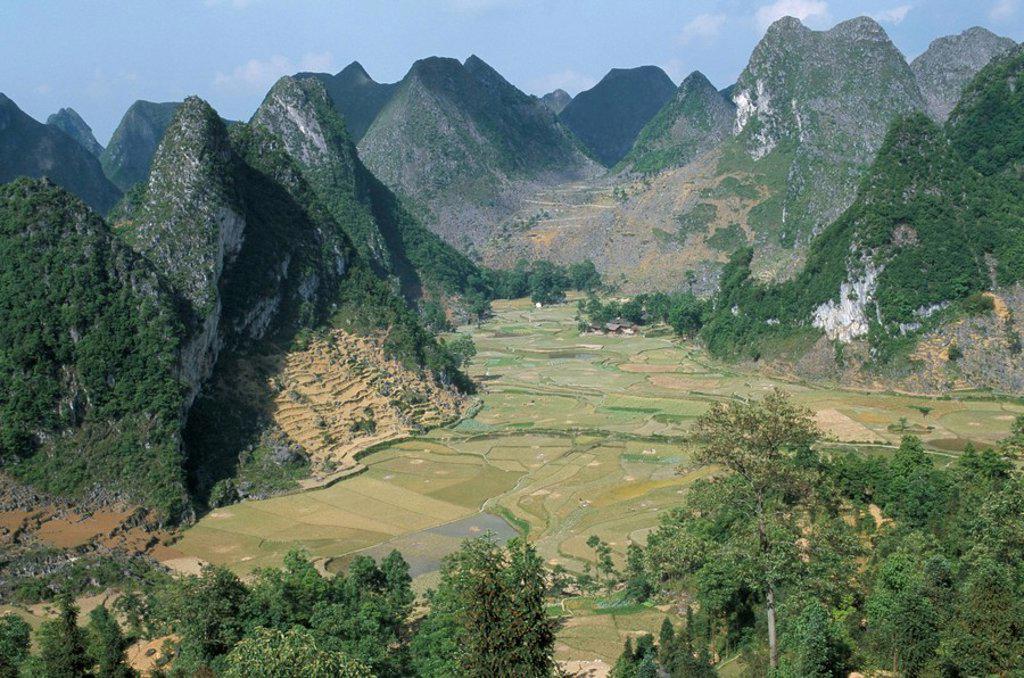 Stock Photo: 1890-10323 Karst limestone sceney, Ziyun, Guizhou, China, Asia