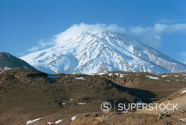 Stock Photo: 1890-1036 Mount Demavand Mount Demavend, Iran, Middle East