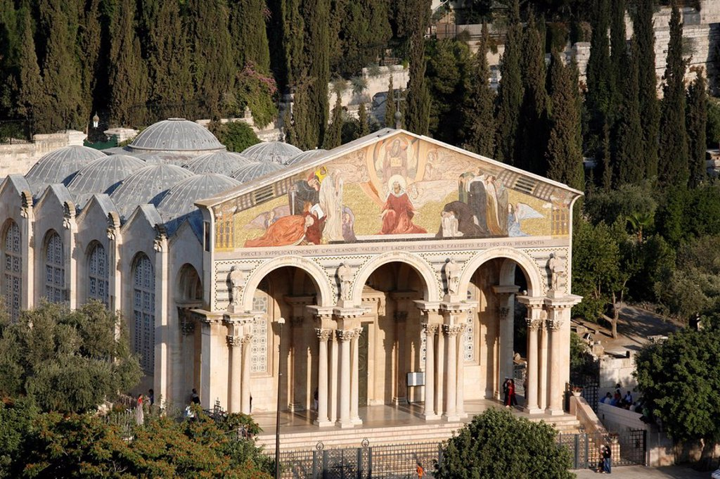 Church of All Nations, Mount of Olives, Jerusalem, Israel, Middle East : Stock Photo