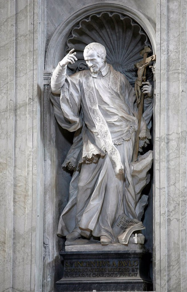 Statue of St. Paul in St. Peter´s Basilica, Vatican, Rome, Lazio, Italy, Europe : Stock Photo