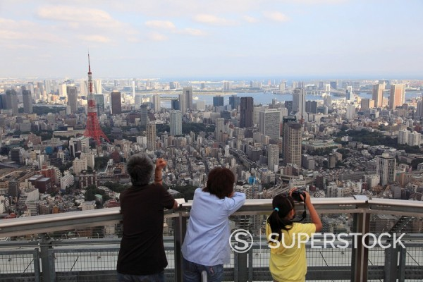 Tokyo City View observation deck, Mori Building, Roppongi Hills, Tokyo, Japan, Asia : Stock Photo