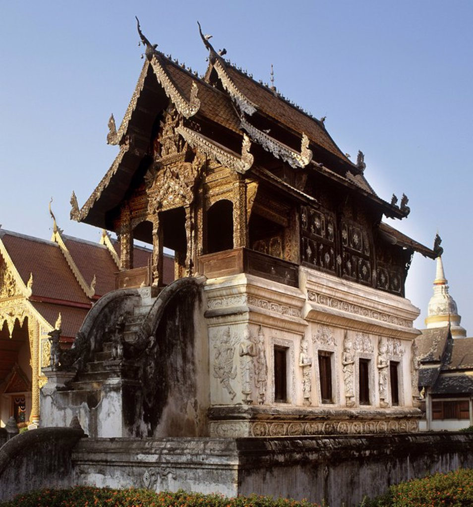Stock Photo: 1890-105898 The Manuscript Library of Wat Phra Singh, Chiang Mai, Thailand, Southeast Asia, Asia