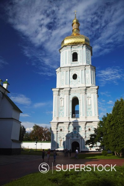 Bell Tower of St. Sophia´s Cathedral, UNESCO World Heritage Site, Kiev, Ukraine, Europe : Stock Photo