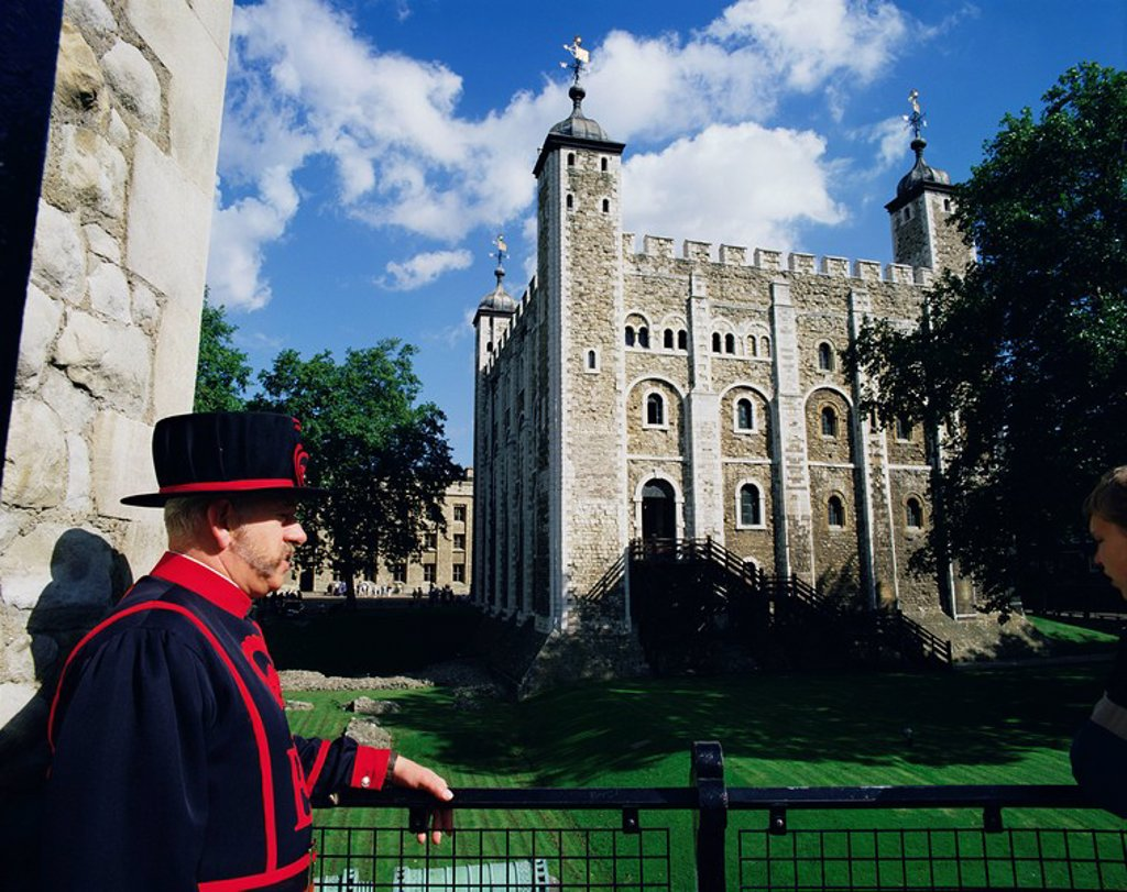 Stock Photo: 1890-10604 The White Tower, Tower of London, UNESCO World Heritage Site, London, England, United Kingdom, Europe