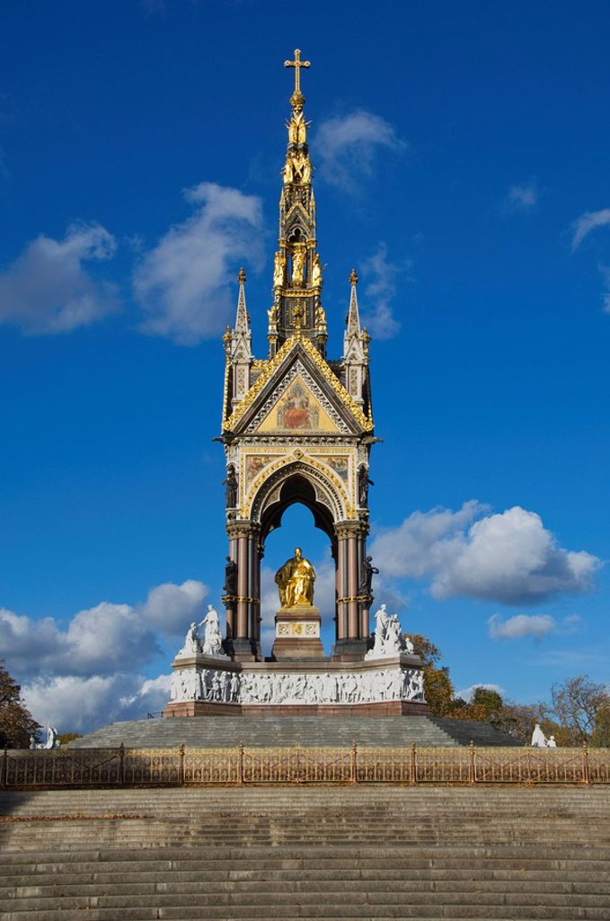 Stock Photo: 1890-106087 The Albert Memorial, Kensington Gardens, London, England, United Kingdom, Europe