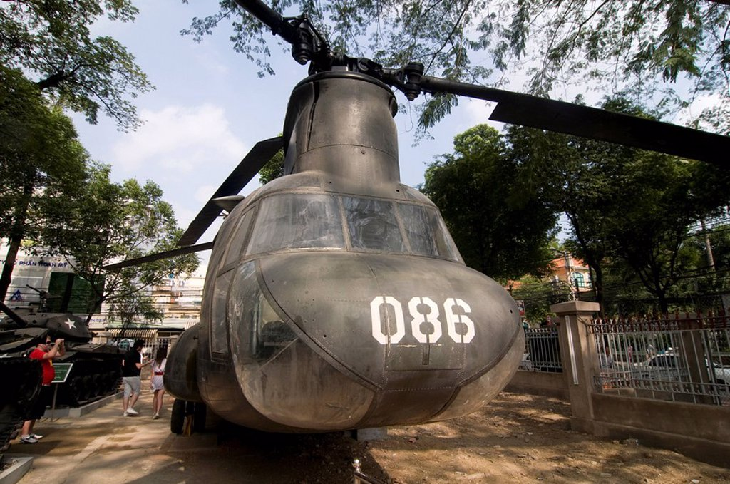 Giant helicopter at the War Remnants Museum, Ho Chi Minh City Saigon, Vietnam, Indochina, Southeast Asia, Asia : Stock Photo