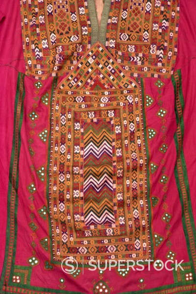 Stock Photo: 1890-1084 Embroidered kurta from Baluchistan, Pakistan, Asia